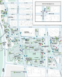 Multi colored map of Columbia University's Medical Campus