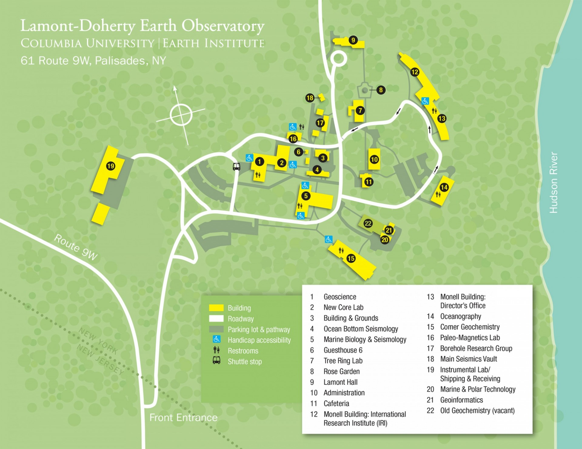 Lamont Doherty Earth Observatory Map